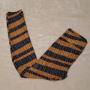 LuLaroe One Size Blue Gold Leggings